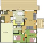 Cabin 13 Floor Plan with color