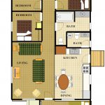 Cabin 15 Floor Plan with color