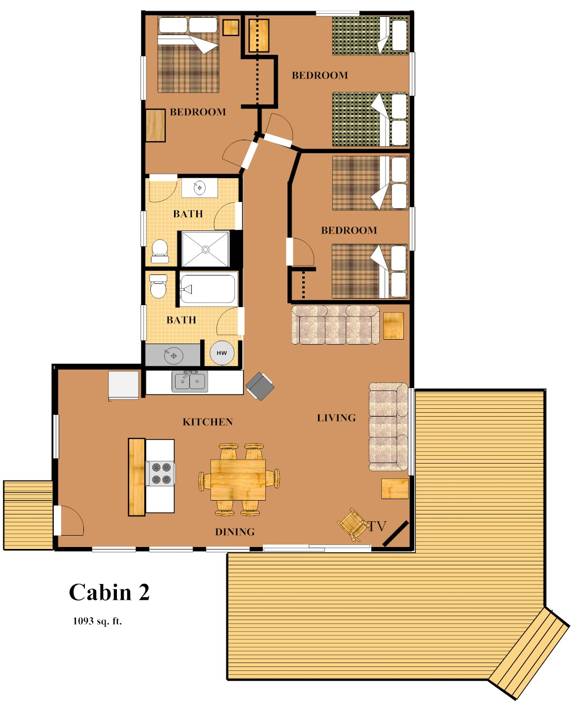 Cabin 2 big rock resort leech lake minnesota for Minnesota lake home floor plans
