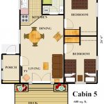 Cabin 5 Floor Plan with color