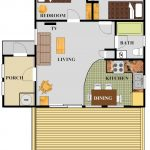 Cabin 6 Floor Plan with color